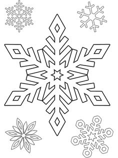 Pix For > Snowflake Pictures To Color