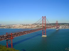 The 25 de Abril Bridge is a suspension bridge connecting the city of Lisbon, capital of Portugal, to the municipality of Almada on the left bank of the Tejo river. It was inaugurated on August 6, 1966  - one of my favorite memories of my Mediteranean cruise