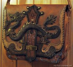 Sergey Kuzmin masterwork. Dragon symbol on the bag's cover. Amazing!