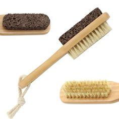 IBEET Natural Earth Lava Pumice Stone Callus Remover Foot Brush Feet Scrubber #IBEET