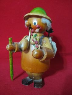Erzgebirge Antique German Wooden Smoker Smokermen Incense Smoker Forrester RARE | eBay