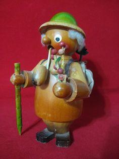 Erzgebirge Antique German Wooden Smoker Smokermen Incense Smoker Forrester RARE | eBay