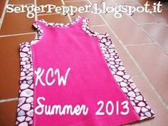 #KCW #summer #sewing: girl's dress, bloomers, shorts and tank SergerPepper.blogspot.it