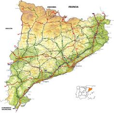 map Catalunya region