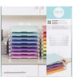 We R Memory Keepers™ 12u0027u0027x12u0027u0027 Stackable Acrylic Paper Trays Clear
