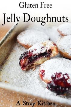 Pillowy, sweet, with a little zing, these jelly doughnuts are amazing. Not to mention they are Dairy free and Gluten free to boot!