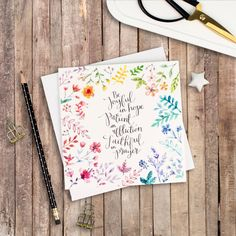 Be Joyful In Hope - Izzy & Pop Luxury Square Card - Christian Cards - Floral Cards - Encouraging Card - Card for a Friend