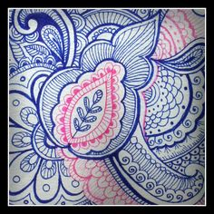 henna design - ballpoint pen