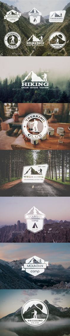6 Trekking Badges & Logo - Badges & Stickers Web Elements