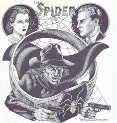 The Spider, by Frank Hamilton Pulp Art, Savage, Hamilton, Spider, Comics, Classic, Artwork, Anime, Men
