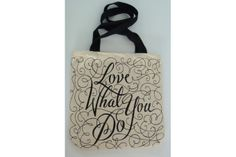 """""""Do What You Love"""" Tote bag by Lionheart Reusable Tote Bags, Love, Typo, Prints, Handmade, Stuff To Buy, Design, Amor, Hand Made"""