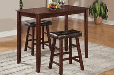 Poundex F2351 F1239 Pub Table and Chair Set