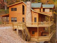 Pigeon forge cabin rental wet n 39 wild luxury log cabin with a private indoor swimming pool - Small log houses dream vacations wild ...
