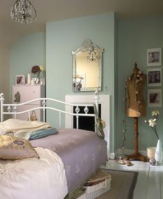 Metal Bed With Rustic Touch