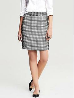 Geo Jacquard Pencil Skirt | Banana Republic