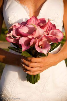 Bouquet copo de leite rosa