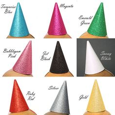 Mini Party Hat Glitter New Years Costume