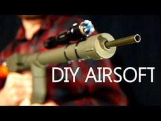 How To Make A BB Machine Gun For $5 - Easy Hand Powered Airsoft Gun - YouTube