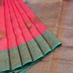 Sailesh Singhania Razzmatazz Pink Handwoven Kota Silk Saree 10005643 - AVISHYA