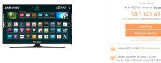 """Smart TV LED 40"""" Samsung UN40J5300AGXZD Full HD com Conversor Digital 2 HDMI 2 USB Wi-Fi 120Hz << R$ 165149 >>"""