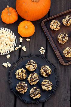 Dark Chocolate Drizzled Popcorn Balls (Gluten-free & Dairy-free)
