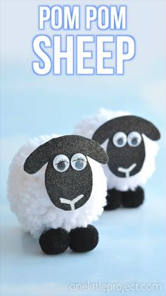 These pom pom sheep are SO CUTE and really simple to make! It's easy to make DIY pom poms from yarn just by using your hands! Such a great kids craft for springtime! Eid Crafts, Easy Diy Crafts, Easter Crafts, Spring Crafts For Kids, Diy For Kids, Kids Fun, Cool Kids, Sheep Crafts, Pom Pom Crafts
