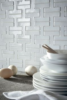 Bright and White Accent Wall | Installation Gallery | Fireclay Tile