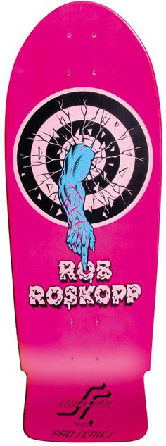 Jim Phillips, legendary skateboard graphics artist Rob Roskopp Santa Cruz pro model ****I have This on the Finger Board