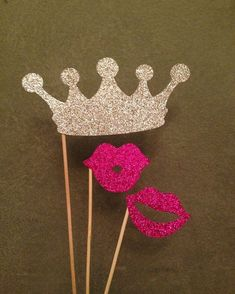 Fabulous #glitter #props for the #princess in you. #rentmyphotobooth Photo via #PrettyCollected #Etsy
