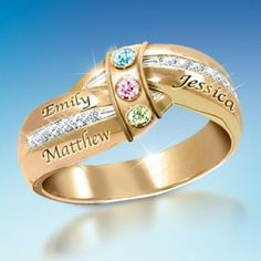 unique mothers rings on rings