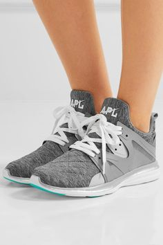 Athletic Propulsion Labs - Ascend Techloom Quilted Jersey And Rubber Sneakers - Gray - US10.5