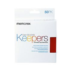 Memorex® CD & DVD Keepers, Assorted Colors, Pack Of 50