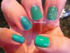 Teal- Cha Cha Cakes Nails: Day 21 in the 31 Day Nail Art Challenge