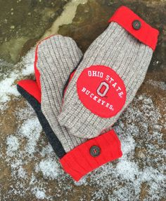 Ohio State Mittens Wool Mittens Sale 20% off The by TheYankeeBelle