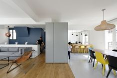 Scheme and interior architecture - Gallery of Duplex - Paris 16 / Ulli Heckmann + Eitan Hammer - 1