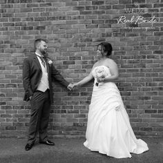 Real bride Kathy looks gorgeous in '1104' by Anna Sorrano 💕The dress features gorgeous detailing and asymmetrically pleated skirts 💕 Please share your photos with us by emailing info@wed2b.co.uk 💕