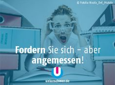 """""""Fordern Sie sich - aber angemessen!""""  Alle #montagmorgenappetizer gibts auch auf unserem Twitter-Account @unternehmer_de   #business #buero #office #fordern Office, Twitter, Fictional Characters, Inspiring Quotes, Things To Do, Fantasy Characters"""