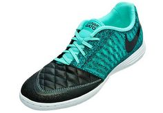 Nike Lunargato II Indoor Soccer Shoes - Black and Turquoise.it's available at SoccerPro now! Nike Soccer Shoes, Soccer Gear, Soccer Boots, Soccer Equipment, Nike Shoes, Soccer Stuff, Indoor Soccer Cleats, Futsal Shoes, Soccer Workouts