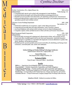 Medical Billing And Coding Resume Sample | Sample Resumes