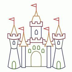 Cartoon castle drawing is easily one of the most sought after fantasy art to create. Learn how to draw castle cartoon with block by block building technique. Castle Drawing Easy, Disney Castle Drawing, Castle Sketch, Castle Cartoon, Disney Drawings, Cartoon Drawings, Easy Drawings, Drawing Disney, Disney Coloring Pages