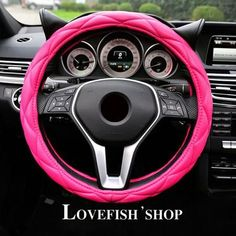 Automobiles & Motorcycles Self-Conscious 38cm Stiching Steering-wheel Cover Microfiber Leather Steering Wheel Covers Non-slip Skin Feel Car-styling Accessories