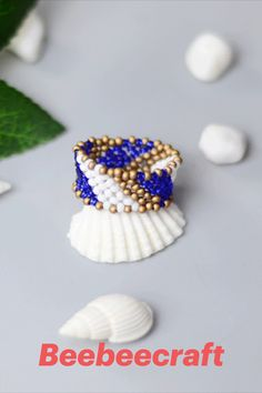 #Beebeecraft excellent idea on making DIY #ring with #seedbeads. #jewelry #jewelrymakingsupplies #supplies #crafts #diy #jewelrymaking