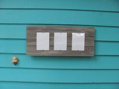 Recycled wood picture frame three 5 by 7 windows by JohnBirdsong, $48.00