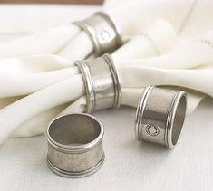 Pewter Napkin Ring, Set of 4 #potterybarn