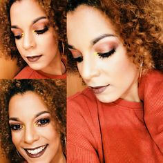 Bronze glitter  Warm shades Wintertime  Curly and ebony  Underlinebeauty on fb