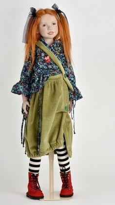 Gotz Hildegard Gunzel Doll Light-Skin Baby Doll Kinderland w//KNAPSACK NEW In Box