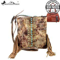 MW262G-8287 Montana West Fringe Concealed Carry Messenger Bag