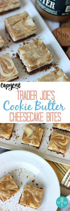 Copycat Trader Joe's Cookie Butter Cheesecake Bites – A thick Speculoos cookie…