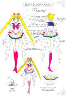 sailormoon character design | Sailor Moon Character Design Sheet