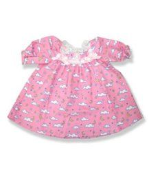 Pink Nightgown Outfit Teddy Bear Clothes Fits Most - Build-A-Bear, Vermont Teddy Bears, And Make Your Own Stuffed Animals Doll Clothes Patterns, Clothing Patterns, Sewing Patterns, Crochet Patterns, Build A Bear Clothes Pattern, Vermont Teddy Bears, Build A Bear Outfits, Pink Nightgown, Teddy Bear Clothes